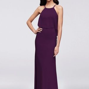 Chiffon Bridesmaid Dress (Plum/Purple)